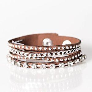 5 for $25! Paparazzi brown urban bracelet